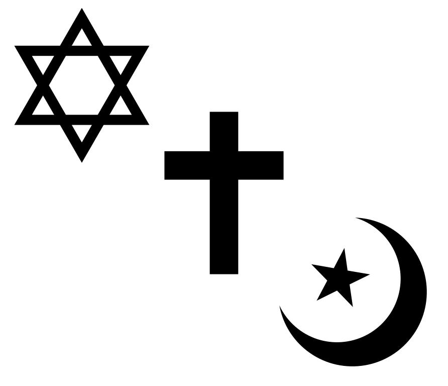 Hình Biểu tượng Do Thái Giáo, Thiên Chúa Giáo và Hồi Giáo