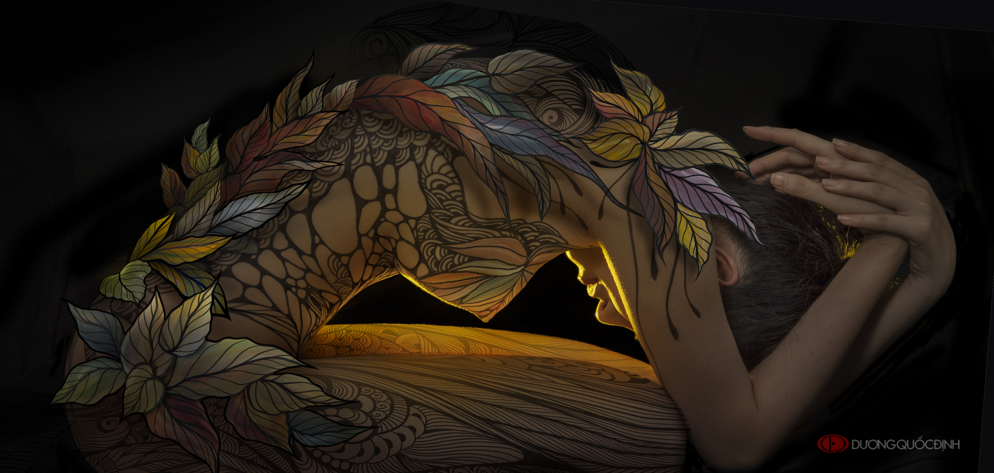 Top 1/10 Body Painting Art | Dương Quốc Định