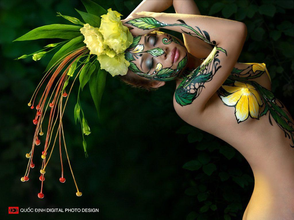 Kiếp hoa - Top 8/10 Body Painting Art | Dương Quốc Định