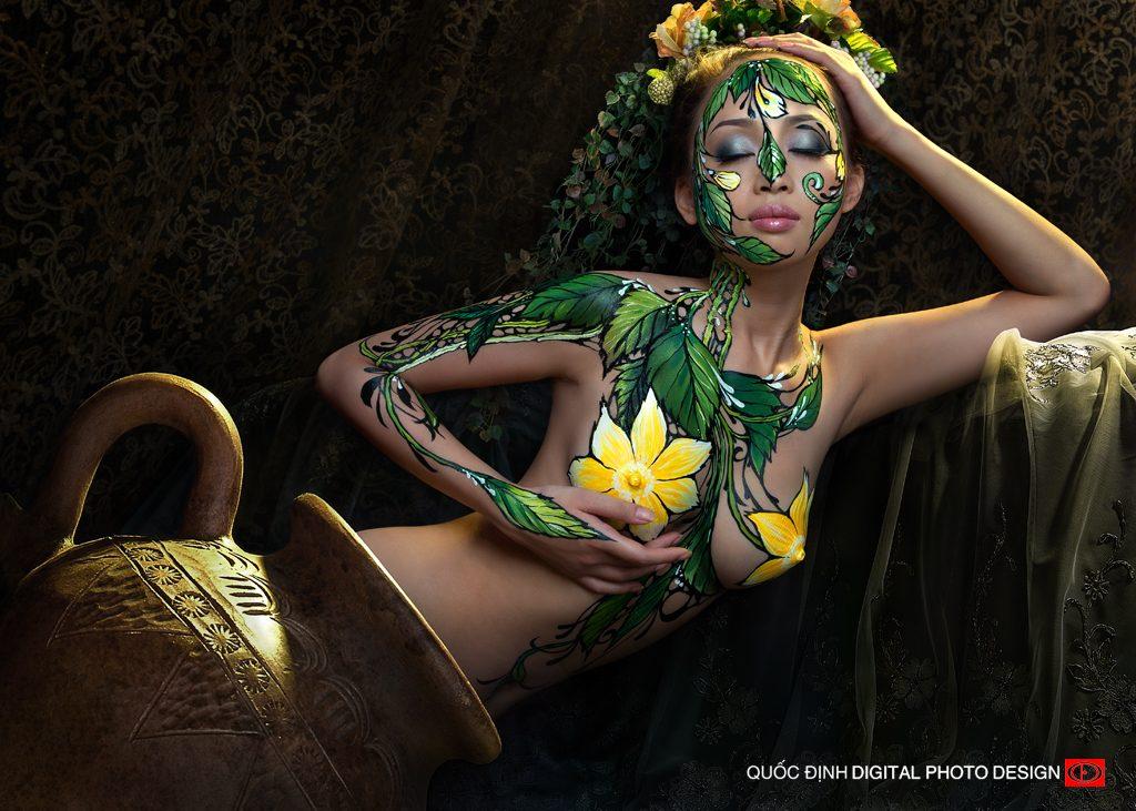 Kiếp hoa - Top 5/10 Body Painting Art | Dương Quốc Định
