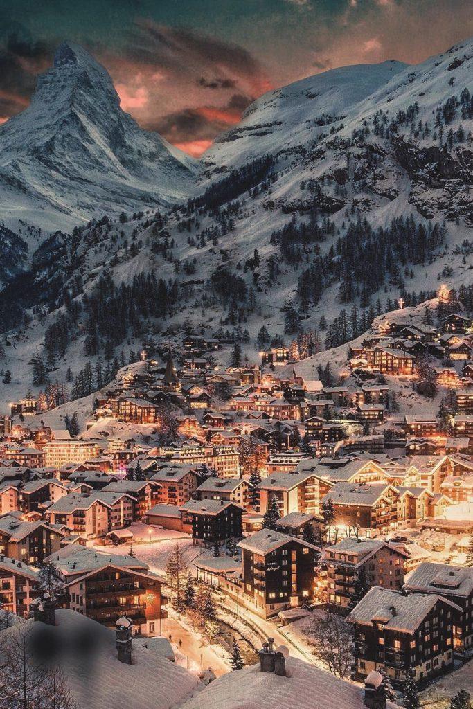 Khu tự trị Zermatt, Switzeland. Ảnh Golden Heart.