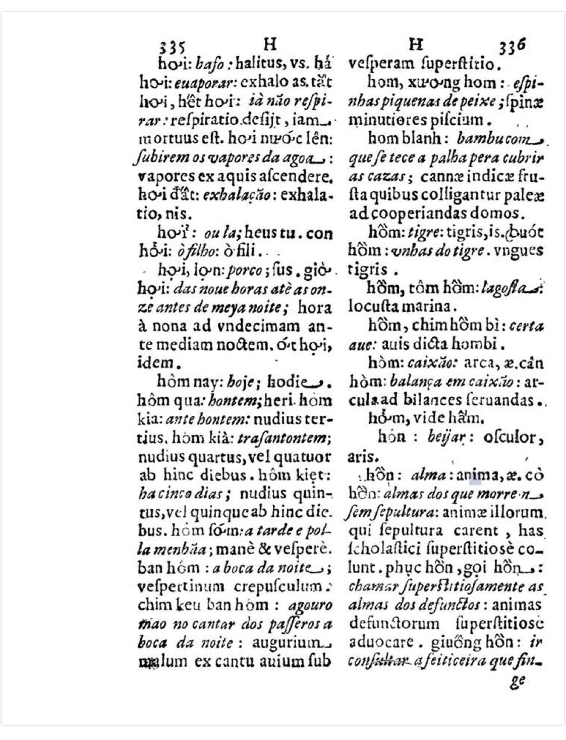 Alexandre de Rhodes (1591-1660) Từ điển Việt Bồ La. Định nghĩa Hôn